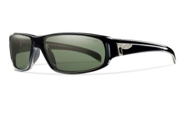Smith Optics Precept Sunglasses - Black Frame, Polarized Gray Green Techlite Glass PTGPGYBK