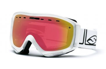 Smith Prophecy Goggles, White Foundation, Red Sensor Mirror PR6RZFW10