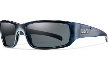 Smith Optics Prospect (New) Sunglasses - Blue Stripe Frame, Polarized Grey Lenses POPPGYBL