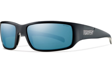 Smith Optics Prospect (New) Sunglasses - Matte Black Frame, Polarized Blue Mirror Lenses POPPUGMBK