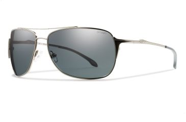 Smith Optics Rosewood Sunglasses - Matte Gunmetal Frame, Polarized Gray Carbonic RWPPGYGM