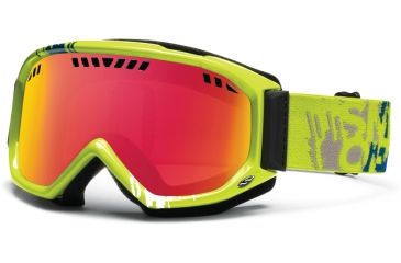 Smith Optics Scope Goggles - Lime Mission Frame, Red Sensor Mirror Lenses SC3RZLM12