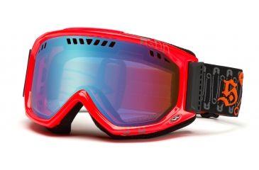 Smith Scope Graphic Goggles, Black/Blaze Safety Pinner, Sensor Mirror SG3ZOP11