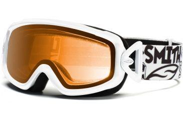 Smith Optics Sidekick Goggles - White Frame, Gold Lenses DK2GWT12