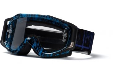 Smith Fuel V.2 Goggles Sweat-X Cyan/Black Rise & Fall w/ Clear AFC Lens FX1CFCR11