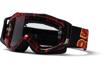 Smith Fuel V.2 Sweat-X Goggles Red/Black Old Signage w/ Clear AFC Lens FX1CFKS11