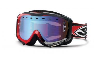 Smith Optics Snow Piston Sweat-X Goggles - Red-Black Frame