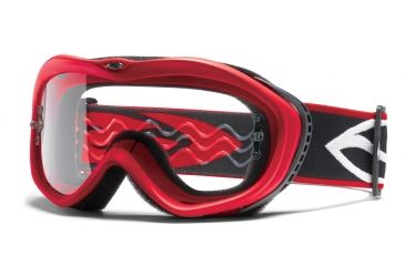 Smith Optics Sonic Goggles - Red frame, Clear lens