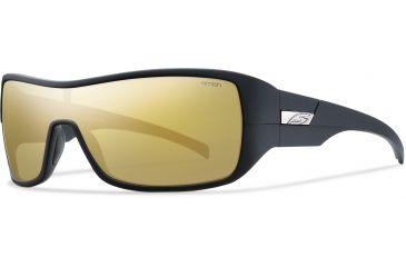 Smith Optics Stronghold (New) Sunglasses - Matte Black Frame, Polarized Gold Mirror Lenses STPPGDMMB