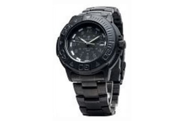 Smith & Wesson Diver Watch w/ Metal and Rubber Strap, Black/Black SWW-900-BLK