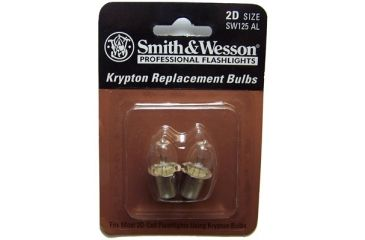 Smith & Wesson Powertech Krypton Flashlight Replacement Bulbs, Replacement Bulbs S&W Powertech Krypton 2.4v Replacement Bulb 2 Pack - 2D Flashlight