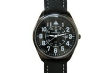 Smith & Wesson The Civilian Watch - Leather Strap, Round Dial SWW-6063 SWW-6063