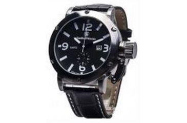 Smith & Wesson Water Resistant EGO Watch w/ Leather Strap, 48mm, Grey SWW-LW6081