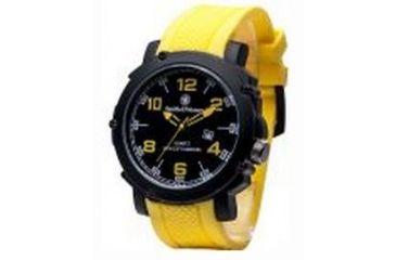 Smith & Wesson Water Resistant EGO Watch w/ Silicon Strap, 50mm, Yellow/Black SWW-LW6098