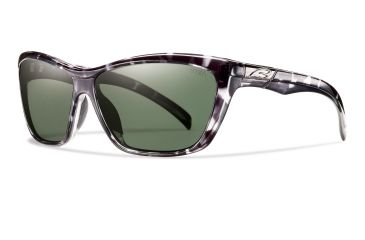 Smith Optics Aura Sunglasses - Black Tortoise Frame, Polarized Gray Green Lenses ARGPGYBT