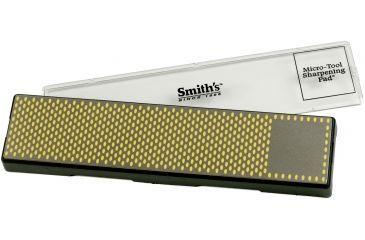 Smiths Sharpeners 11.5in. X 2.5in. Diamond Bench Stone, Coarse, Black/Metallic/Yellow DBSC115