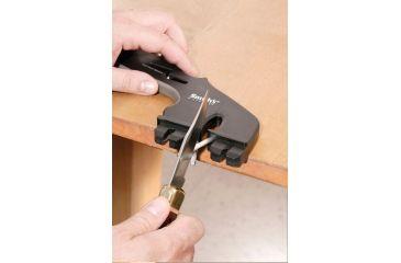 Smiths Sharpeners 4-in-1 Knife/Scissors Sharpener, Black/Gray CSCS