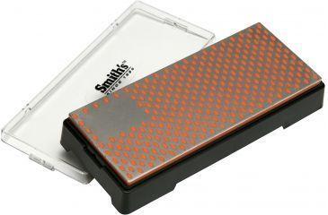 Smiths Sharpeners 6in. X 2.5in. Diamond Bench Stone, Fine, Black/Metallic/Orange DBSF