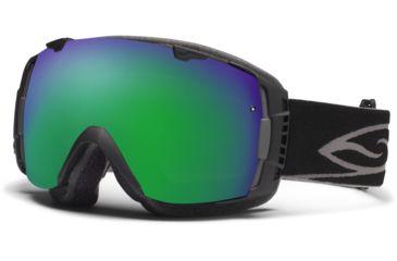 Smith Optics I/O Snow Goggles - Black Frame w/ Green Sol X and Red Sensor Lens IO7NXBK12