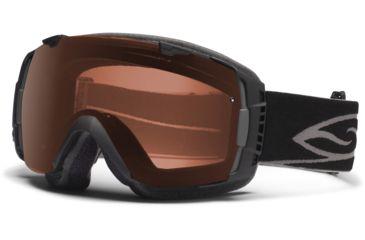 Smith Optics I/O Snow Goggles - Black Frame w/ Polarized Rose Copper and Blue Sensor Lens IO7EPBK12