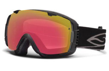 Smith Optics I/O Snow Goggles - Black Frame w/ Red Sensor and Platinum Lens IO7RZBK12