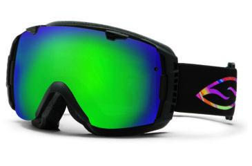 Smith Optics I/O Snow Goggles - Facemelter Frame w/ Green Sol X and Red Sensor Lens IO7NXFM13