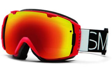 Smith Optics I/O Snow Goggles - Fire Blockhead Frame w/ Red Sol X and Blue Sensor Lens IO7DXFB13