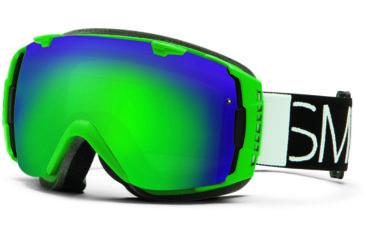 Smith Optics I/O Snow Goggles - Kelly Blockhead Frame w/ Green Sol X and Red Sensor Lens IO7NXKB13