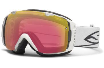 Smith Optics I/O Snow Goggles - White Frame w/ Red Sensor and Platinum Lens IO7RZWT12