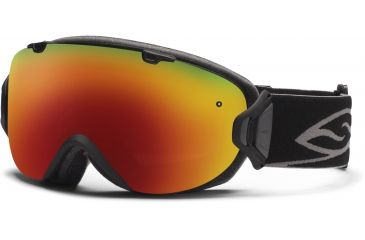 Smith Optics I/OS Snow Goggles - Black Frame w/ Red Sol X and Blue Sensor Lens IS7DXBK12