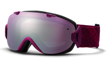 Smith Optics I/OS Snow Goggles - Merlot Motif Frame w/ Ignitor and Blue Sensor Lens IS7IMM13