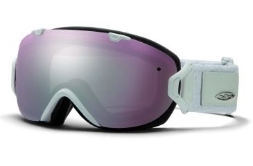 Smith Optics I/OS Snow Goggles - White Danger Frame w/ Ignitor and Blue Sensor Lens IS7IWD13