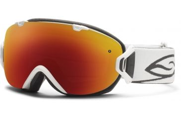 Smith Optics I/OS Snow Goggles - White Frame w/ Red Sol X and Blue Sensor Lens IS7DXWT12