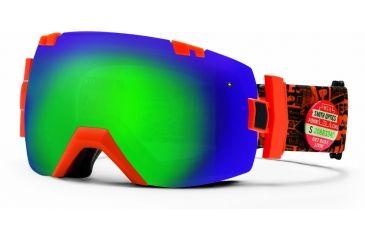 Smith Optics I/OX Snow Goggles - Orange W3 Frame w/ Green Sol X and Red Sensor Lens IL7NXOW13