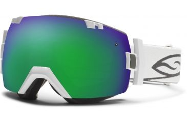 Smith Optics I/OX Snow Goggles - White Frame w/ Green Sol X and Red Sensor Lens IL7NXWT13