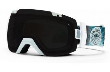 Smith Optics I/OX Snow Goggles - White Oceanic Frame w/ Blackout and Red Sensor Lens IL7BKWO13