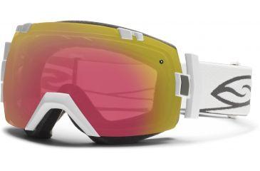 Smith Optics I/OX Snow Goggles - White Frame w/ Red Sensor and Platinum Lens IL7RZWT13