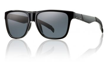 Smith Optics Lowdown Sunglasses - Black Frame w/ Polarized Gray Lens LDPPGYBK