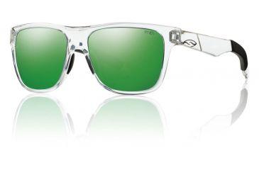 Smith Optics Lowdown Sunglasses - Crystal Frame w/ Green Sol-X Lens LDPCGMCR