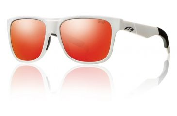 Smith Optics Lowdown Sunglasses - Matte White Frame w/ Red Sol-X Lens LDPCDMMW