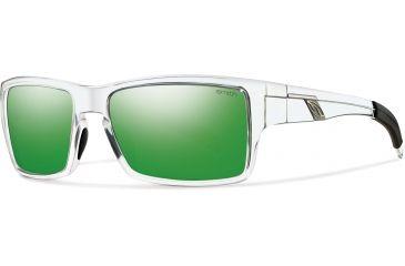 Smith Optics Outlier Sunglasses - Crystal Frame w/ Green Sol-X Lens OUPCGMCR
