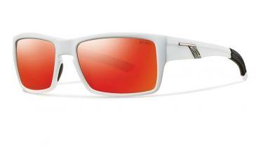 Smith Optics Outlier Sunglasses - Matte White Frame w/ Red Sol-X Lens OUPCDMMW