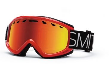 Smith Optics Sentry Snow Goggles - Fire Blockhead Frame w/ Red Sol X Lens SN4DXDB13