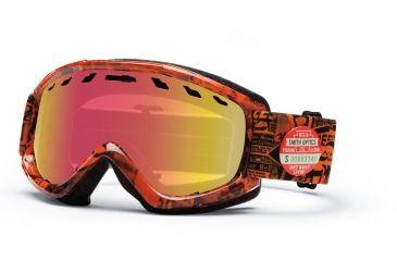 Smith Optics Sentry Snow Goggles - Orange W3 Frame w/ Red Sensor Lens SN4RZOW13
