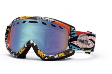 Smith Optics Sentry Snow Goggles - White Carlton Frame w/ Blue Sensor Lens SN4ZWC13