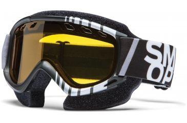 Smith Optics Snow Fuel v.1 MX Goggles - Black/SIlver Vert Frame w/ Yellow Dual Airflow Anti-Fog Lens FV3AKVVSM12