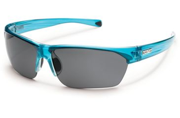Suncloud Polarized Optics Detour Sunglasses - Crystal Teal Frame and Gray Polarized Polycarbonate Lens S-DTPPGYCTL