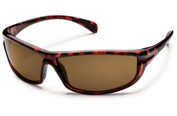 Suncloud Polarized Optics King  Sunglasses - Tortoise Frame and Brown Polarized Polycarbonate Lens S-KNPPBRTT