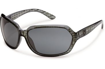 Suncloud Polarized Optics Empress Sunglasses - Black Grid Frame and Gray Polarized Polycarbonate Lens S-EMPPGYBK