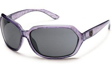 Suncloud Polarized Optics Empress Sunglasses - Lavender Print Frame and Gray Polarized Polycarbonate Lens S-EMPPGYLV